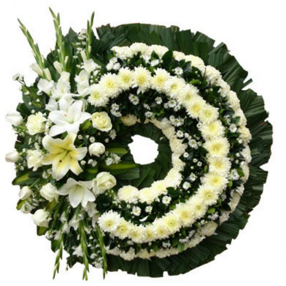Corona fúnebre grande