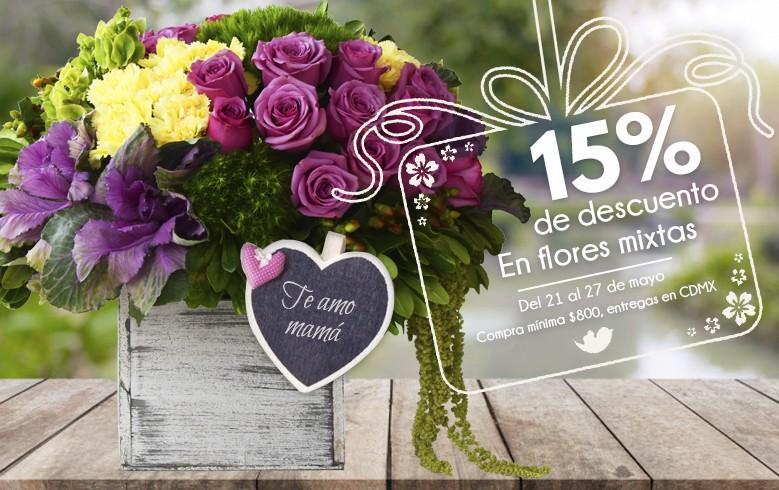 15% de descuento en flores mixtas